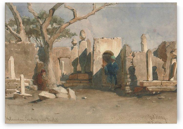 The Mohamedan Cemetery near Boolak 1874 by Carl Haag