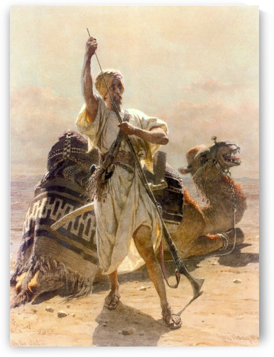 A warrior with a camel by Carl Haag