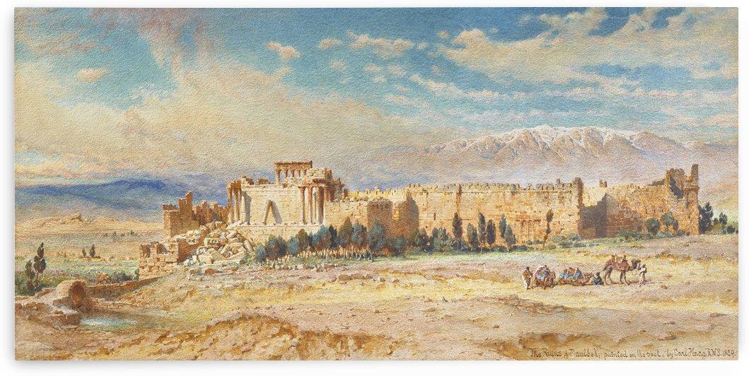 Ruines de Baalbeck by Carl Haag
