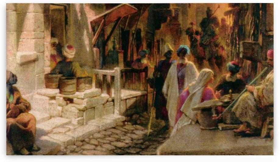 The Bazaar near Damascus by Carl Haag