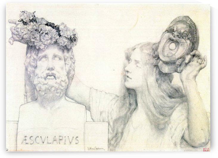 The coronation of AESCULAPIUS by Alma-Tadema by Alma-Tadema