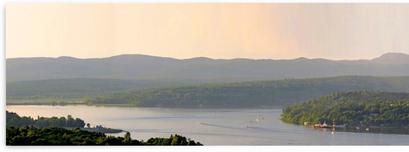 Boating on the St. John River, New Brunswick, June 7, 2012 by Doug McQuinn