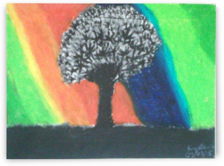 Shadowed tree by Kayathiri Vaithilingam