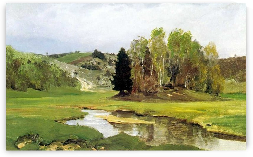 Svinka river near aleksin by Vasily Dmitrievich Polenov