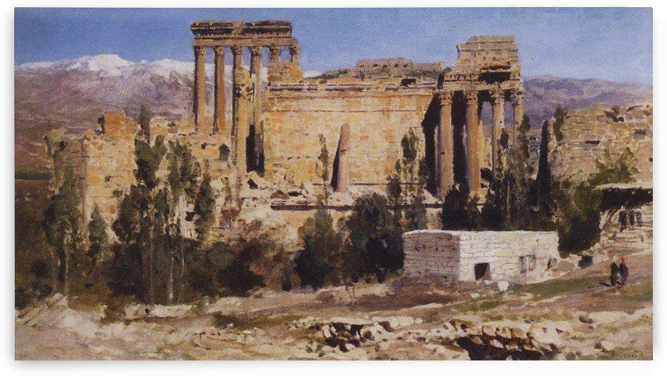 The temple of Jupiter 1882 by Vasily Dmitrievich Polenov