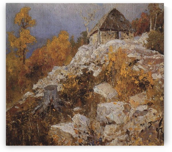 A house on a top of a mountain by Vasily Dmitrievich Polenov