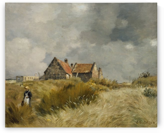 Cottage in the dunes by Jean-Charles Cazin