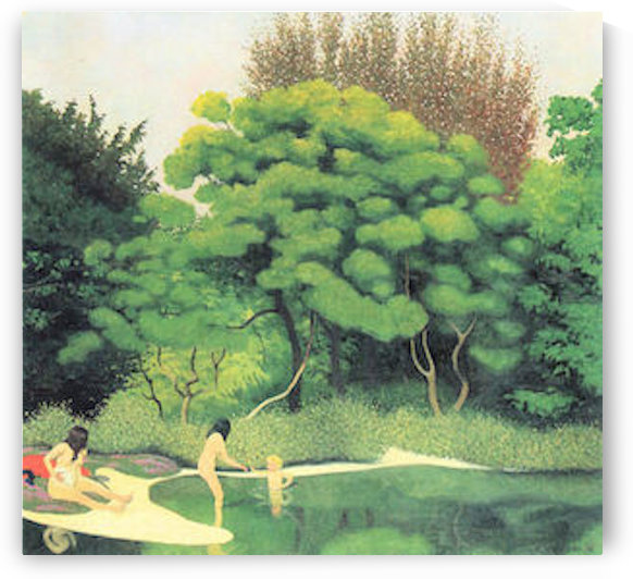Bathers in the woods by Felix Vallotton by Felix Vallotton