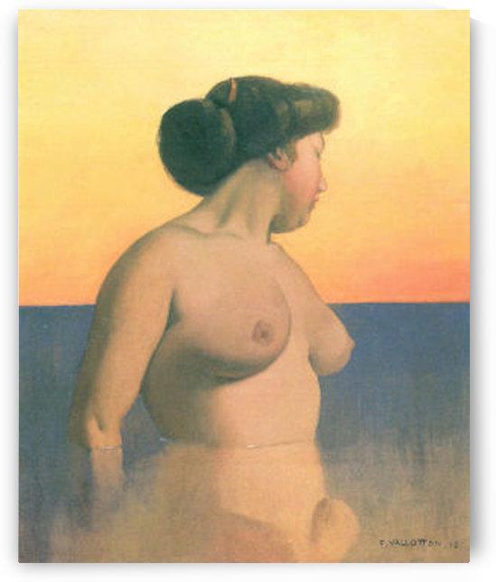 Bathing 2 by Felix Vallotton by Felix Vallotton