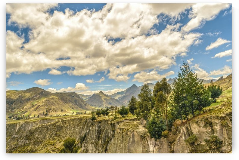 Valley and Andes Range Mountains Latacunga Ecuador by Daniel Ferreia Leites Ciccarino
