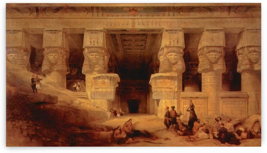 The Temple at Dendera by David Roberts