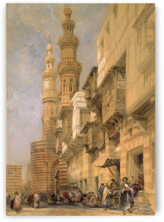 The Gate of Metwaley, Cairo by David Roberts