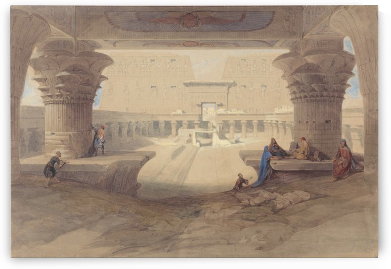 From under the Portico of the Temple of Edfu, Upper Egypt by David Roberts