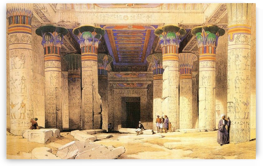 Temple of Isis on the Island of Philae, Nubia by David Roberts