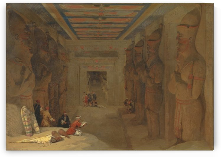 The Hypostyle Hall of the Great Temple at Abu Simbel, Egypt by David Roberts