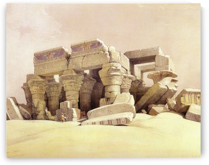 Old ruins in the sun by David Roberts