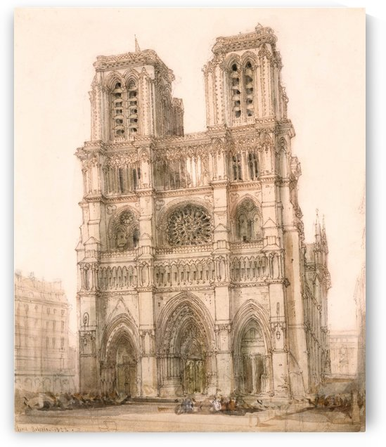 Notre Dame, Paris by David Roberts