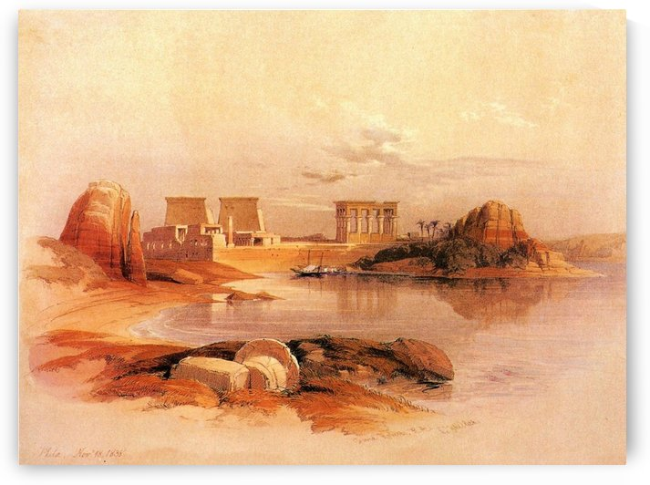 Vie of Philae from Nile, 1838 by David Roberts