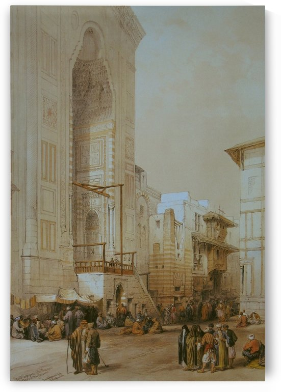 Grand entrance to the Mosque of the Sultan Hassan by David Roberts