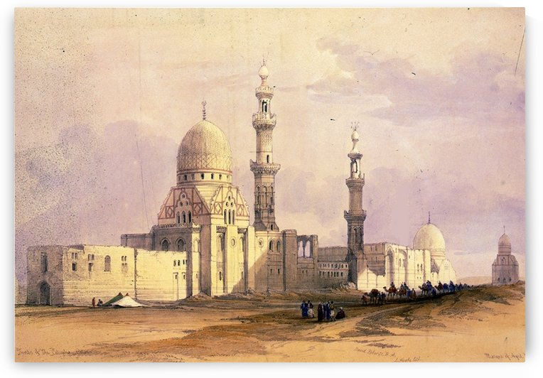 Tombs of the caliphs in Cairo by David Roberts