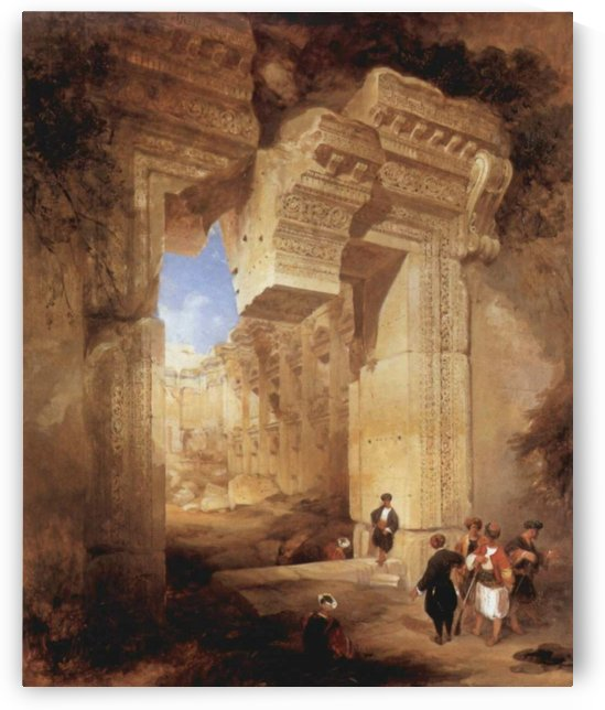 The Gateway to the Great Temple at Baalbec by David Roberts
