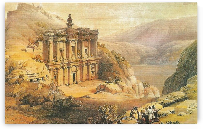 The monastery from Petra by David Roberts