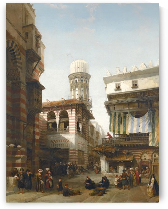 Bazaar of the Coppersmiths, Cairo by David Roberts