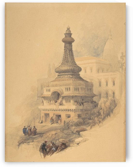Oriental temple by David Roberts