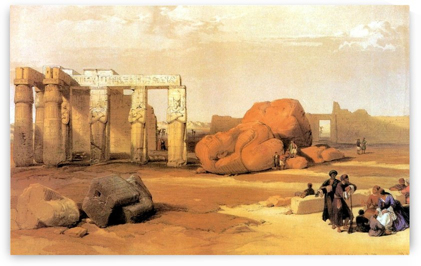 Fallen Colossus of Thebes, 1838 by David Roberts