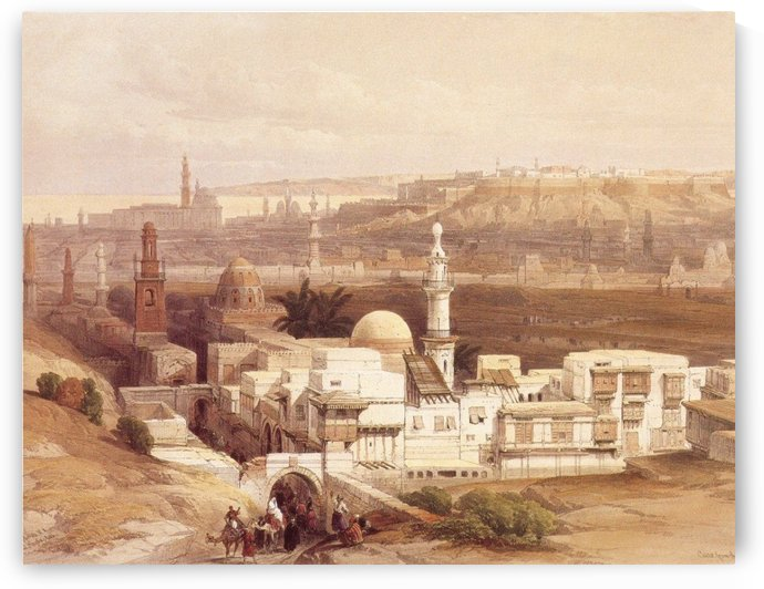 View of Cairo to the East by David Roberts
