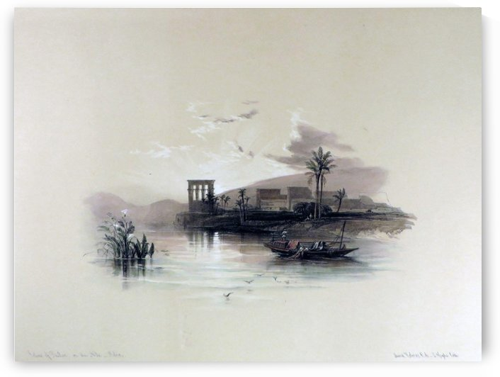 Island of Philae on the Nile by David Roberts
