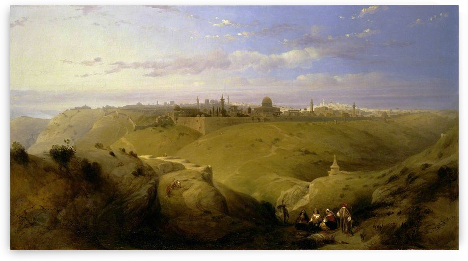 Jerusalem from the Mount of Olives by David Roberts
