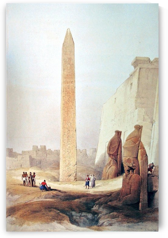 Obelisk at Luxor 1838 by David Roberts