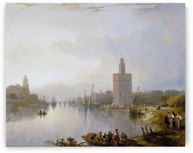 The Golden Tower 1833 by David Roberts