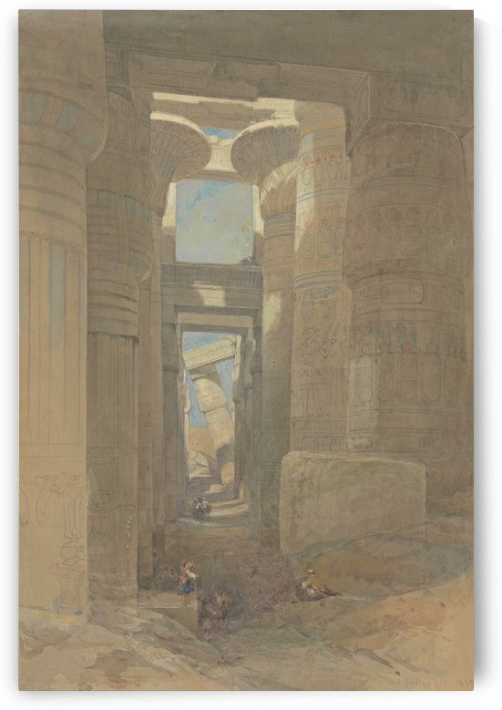 1838 The Great Temple of Amon Karnak by David Roberts