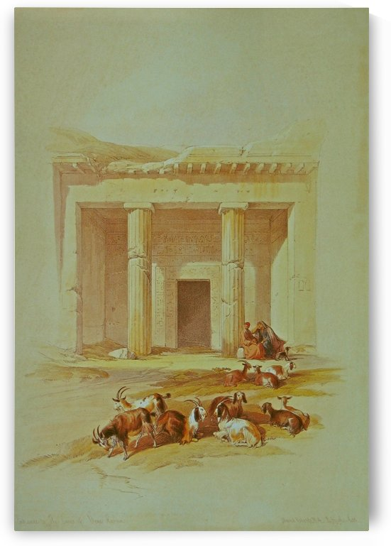 Entrance to the caves of Beni Hassan by David Roberts