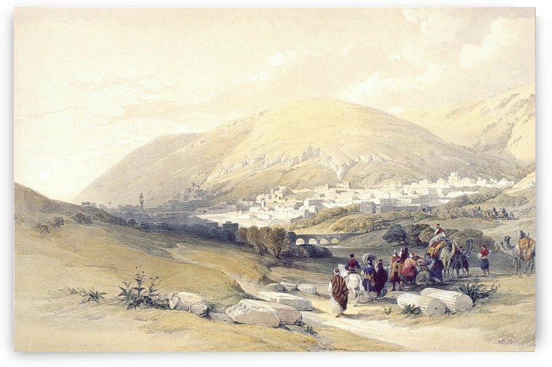 Nablous, Ancient Shechem by David Roberts