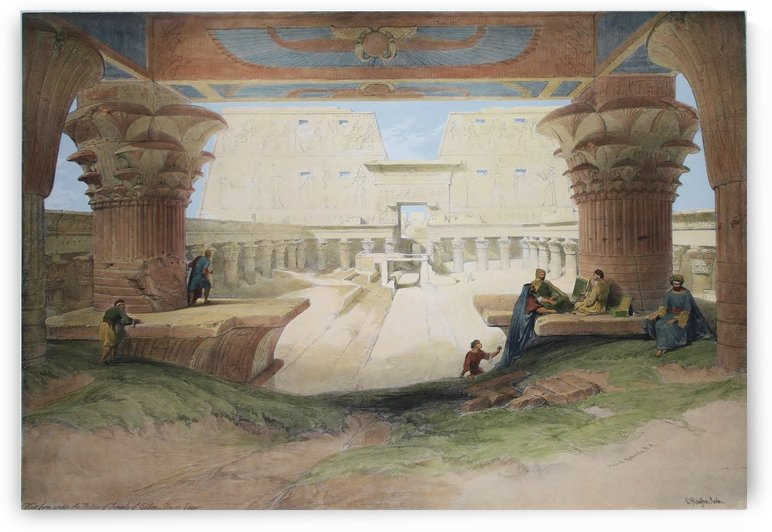 View from Under the Portico of Temple of Edfou by David Roberts
