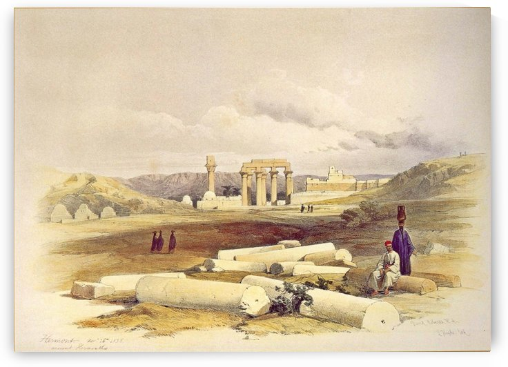Ruins of Erment, Ancient Hermontis by David Roberts