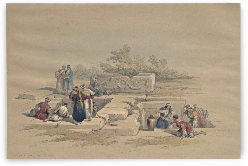 1839 Fountain at Cana by David Roberts