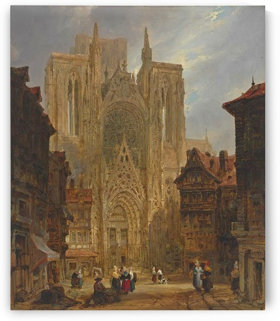 Rouen Cathedral by David Roberts