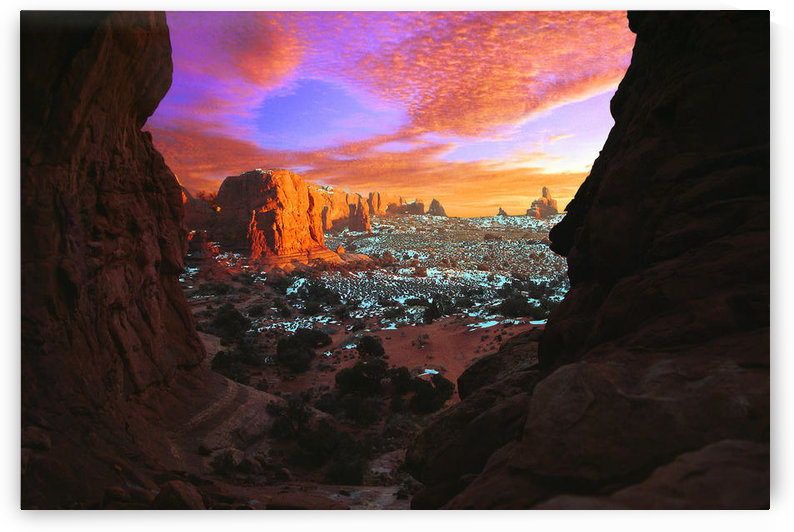 Rocky Buttes Viewed Through Canyon by PacificStock