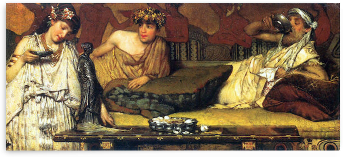 The dinner (Greek), detail by Alma-Tadema by Alma-Tadema