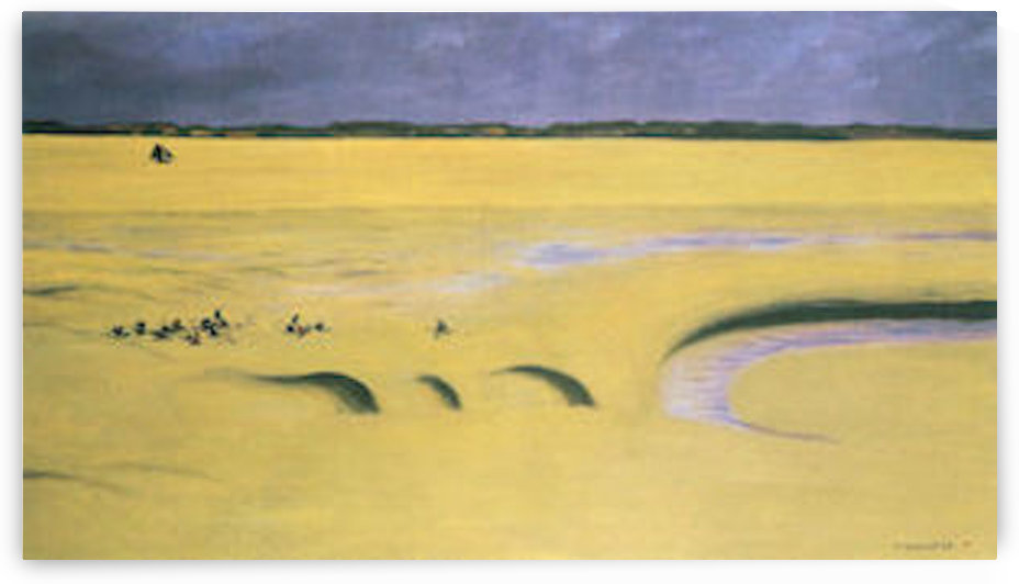 Beach at low tide by Felix Vallotton by Felix Vallotton