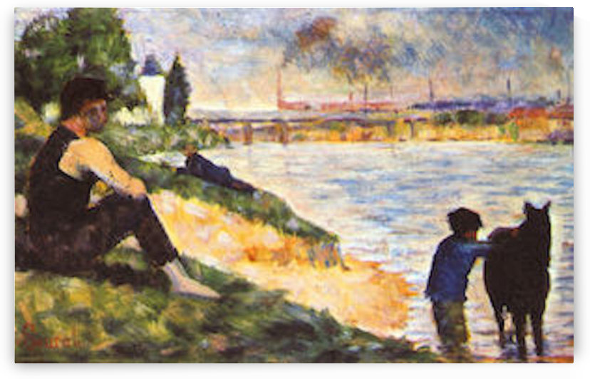 Boy with Horse by Seurat by Seurat