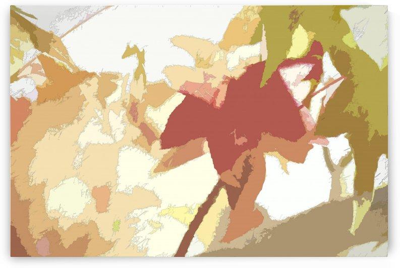 Leaves Macro 1 Abstract 1  by Linda Brody