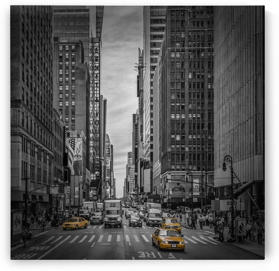 NEW YORK CITY 7th Avenue Traffic by Melanie Viola