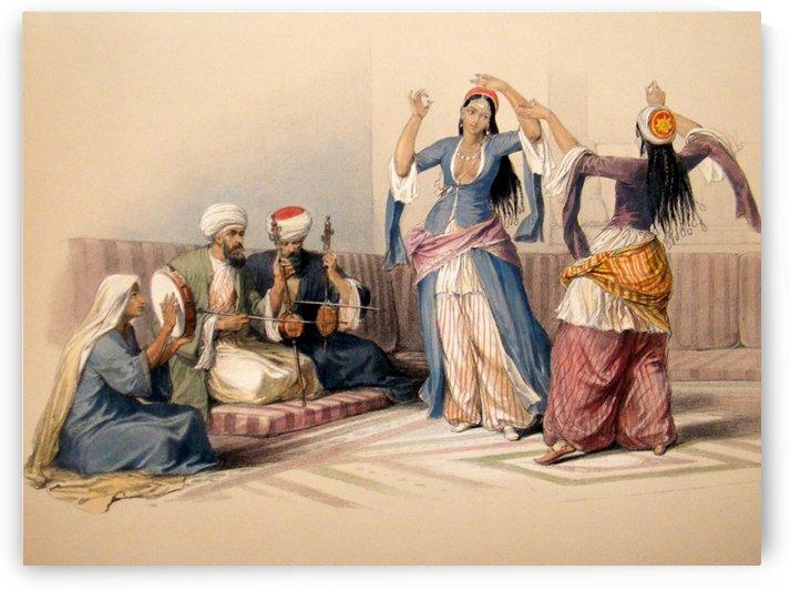 Dancing girls of Cairo by David Roberts