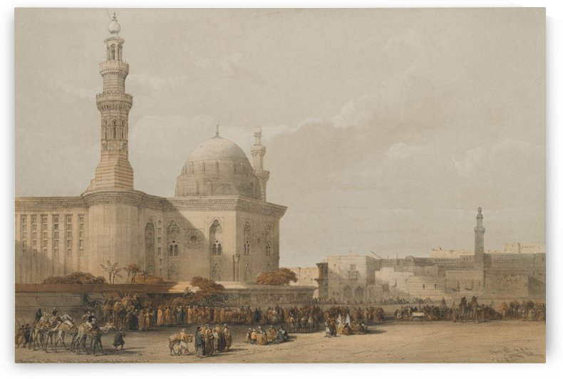 Mosque of Sultan Hassan, from the Great Square of the Rameyleh by David Roberts