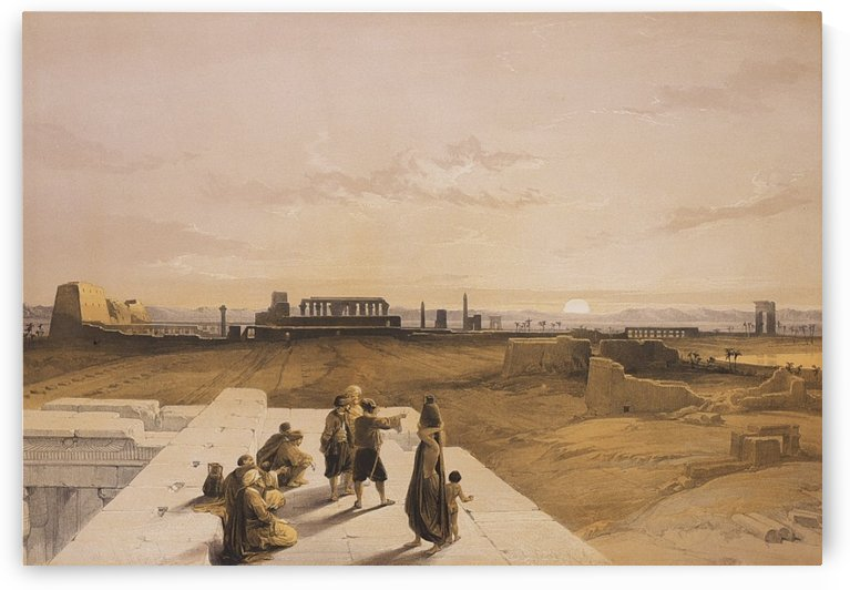 The temple of Luxor by David Roberts